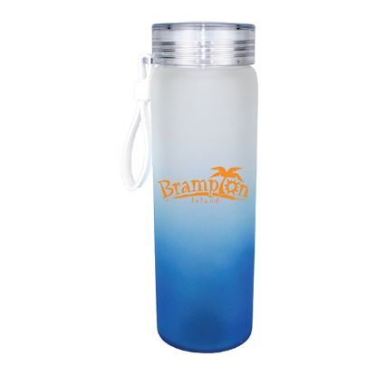 Picture of 20 oz. Halcyon Frosted Glass Bottle with Screw on Lid