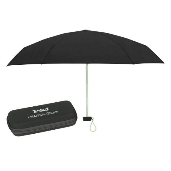 """Picture of 37\"""" Arc Telescopic Folding Travel Umbrella With Eva Case"""