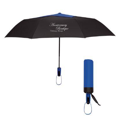 """Picture of 44\"""" Arc Telescopic Diamond Top Vented Umbrella"""