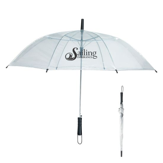 "Picture of 46\"" Arc Clear Umbrella"