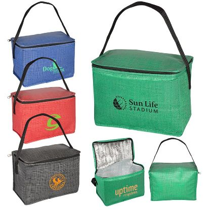 Picture of 6 Pack Tonal Non-Woven Cooler Bag