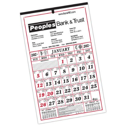 "Picture of 7-Sheet Almanac Calendar - 11 1/2\"" x 19\"""
