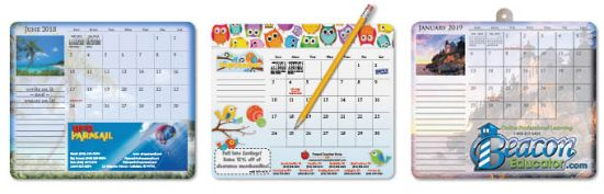 """Picture of 7¼\"""" x 8½\"""" Note Paper Calendar Mouse Pads"""