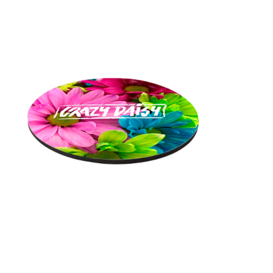 """Picture of 8\"""" Round 1/4\"""" Thick Full Color Soft Mouse Pad"""