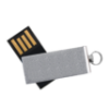 Picture of Aluminum Swivel USB Flash Drive with Small Key Ring- 8 GB