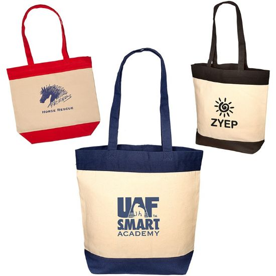 Picture of BOUTIQUE COTTON PANEL TOTE BAG