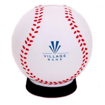 Picture of Bulk Baseball Piggy Coin Bank -  Wholesale