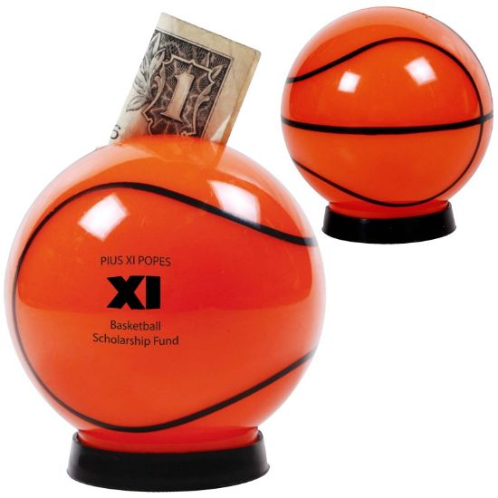 Picture of Bulk Basketball Piggy Coin Bank -  Wholesale