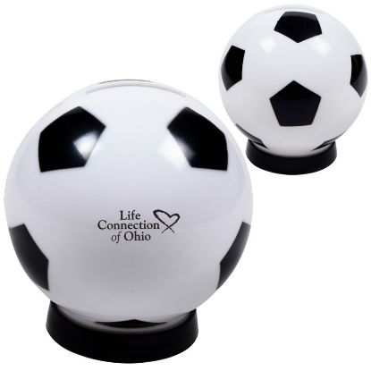 Picture of Bulk Soccer Piggy Coin Bank -  Wholesale