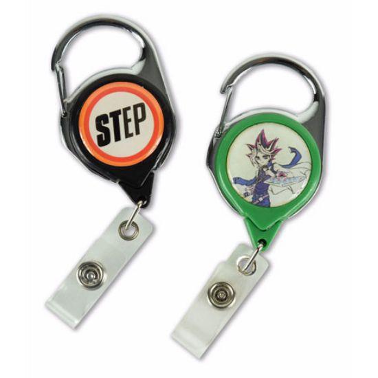 Picture of Carabiner Retractable Badge Reel with No-Twist