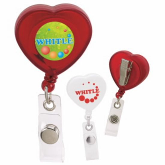 Picture of Caring Heart Retractable Badge Holder