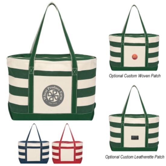 Picture of Cotton Canvas Nautical Tote Bag
