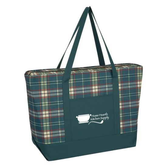 Picture of Crawford Plaid PolyCanvas Tote Bag