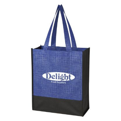 Picture of Crosshatch Mini Non-Woven Tote Bag