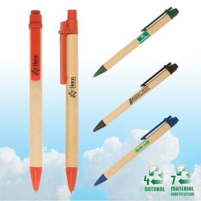 Picture of Eco-Green Paper Barrel Pen
