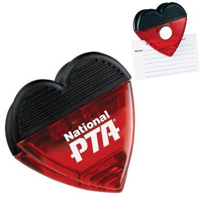 Picture of Heart Magnetic Fridge Memo Clip