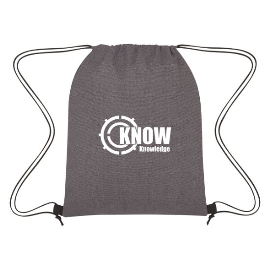 Picture of Heathered Non-Woven Cinch Up Drawstring Backpack