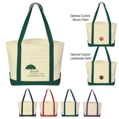 Picture of Heavy Cotton Canvas Boat Tote Bag