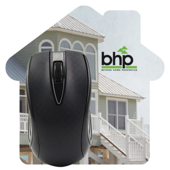 Picture of House Shaped Dye Sublimated Computer Mouse Pad