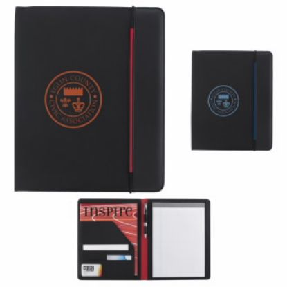 """Picture of Hype Padfolio Journal -10-3/8\""""w x 12-5/8\""""h x 1/2\""""d"""