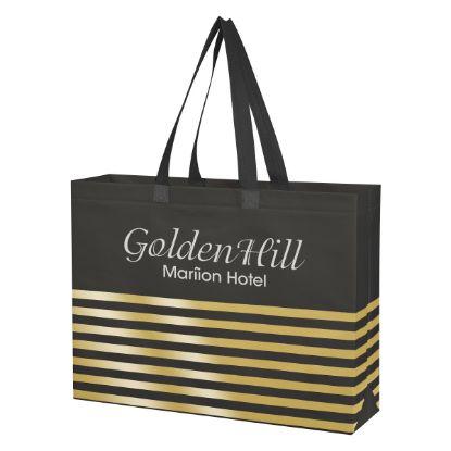 Picture of Non-Woven Horizontal Stripe Tote Bag