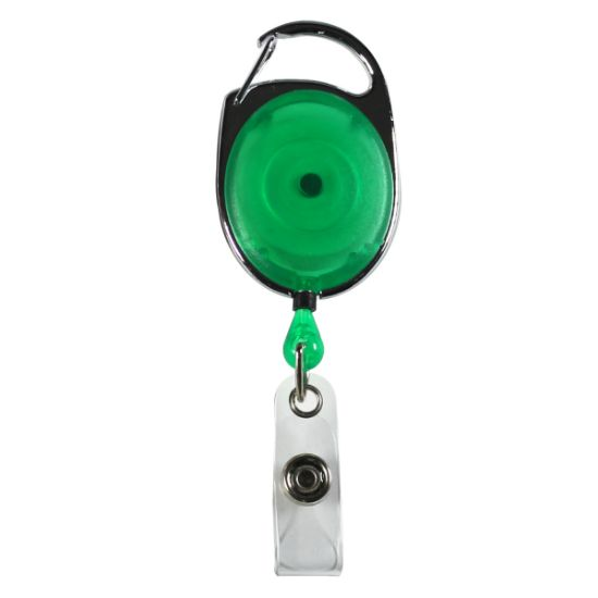 """Picture of \""""Oberlin\"""" 30"""" Cord Retractable Carabiner Style Badge Reel and Badge Holder (Patent D539,122)"""