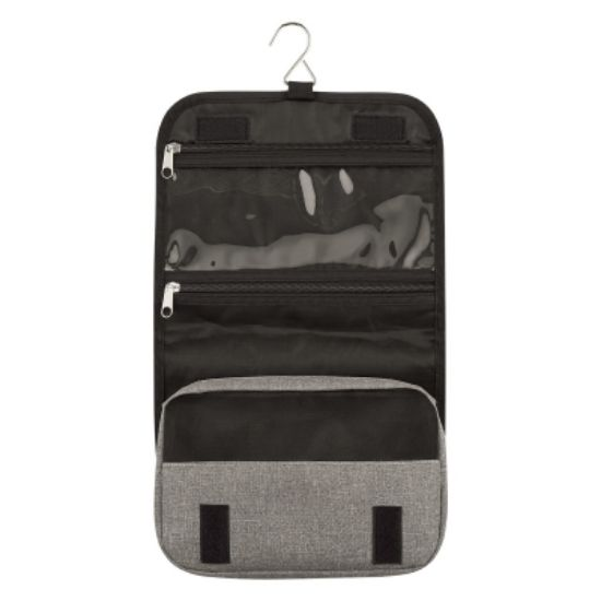 Picture of Heathered Hanging Toiletry Bag/Pouch