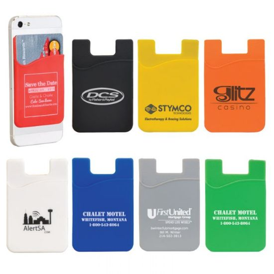 Picture of Silicone Smartphone Wallet & Stand