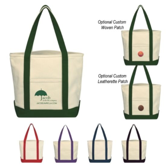Picture of Small Heavy Cotton Canvas Boat Tote Bag