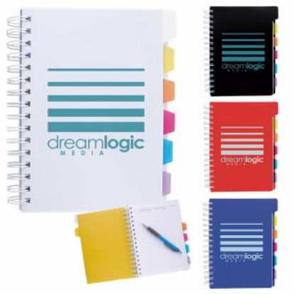"""Picture of Spiral Journal Notebook with Tabs -  6-7/8\""""w x 8-1/4\""""h x 7/8\""""d"""