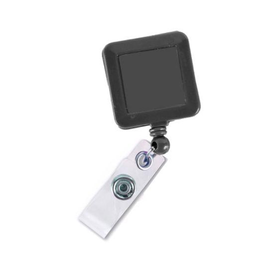 Picture of Square Badge Reel W/ Fixed Bulldog Clip