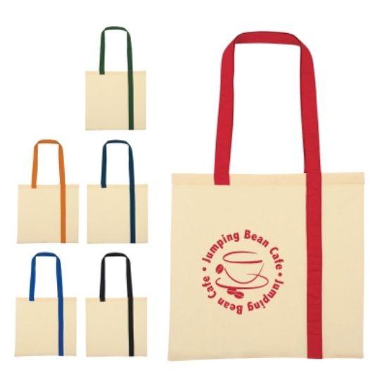 Picture of Striped Economy Cotton Canvas Tote Bag