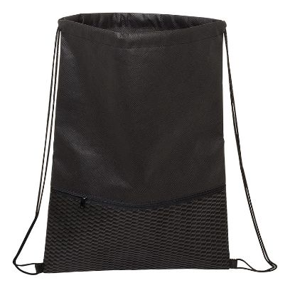 Picture of Texture Pocket Non-Woven Drawstring Backpack