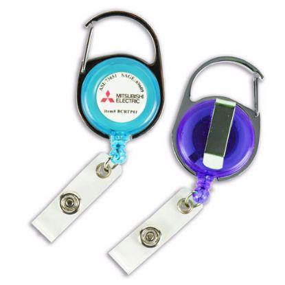 Picture of Transparent Carabiner Retractable Badge Holder/Reel