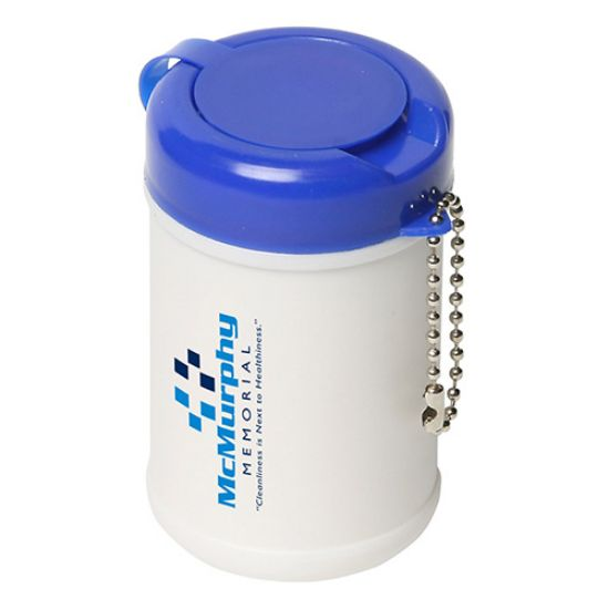 Picture of Travel Well Saniztizer Wipes with Key Chain