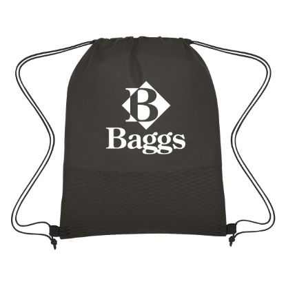 Picture of Wave Design Non-Woven Drawstring Bag