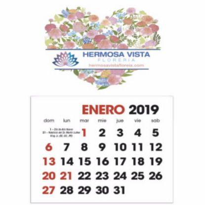 Picture of WholesaleFull Color Stick Up, Spanish grid Fridge Calendar - Bulk