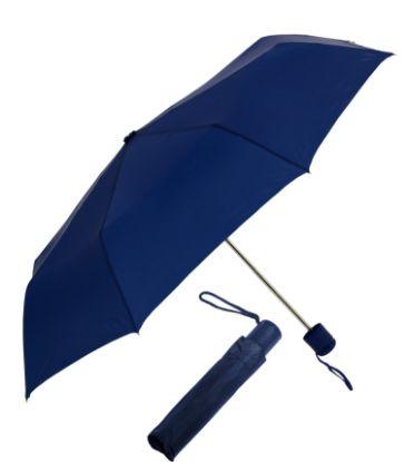 Folding  Navy Umbrella with Logo
